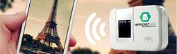Hippocketwifi,  le Wi-Fi de poche pour les touristes étrangers